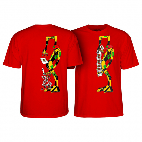 Powell Peralta Skateboard Shirt Ray Barbee Rag Doll Red