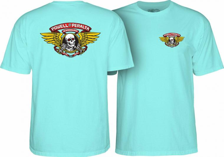 Powell Peralta Skateboard Shirt Winged Ripper Celadon