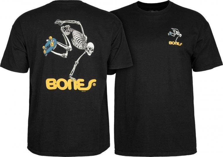 Powell Peralta Skateboards Old School Skate Skeleton Reissue T-Shirt Black