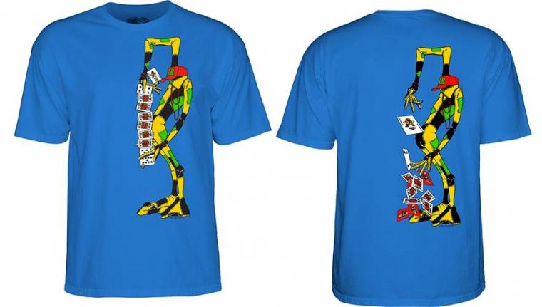 Powell Peralta Skateboards RAY BARBEE Sean Cliver Ragdoll Royal Blue T-Shirt