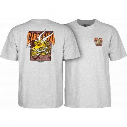 Powell Peralta Steve Caballero Street Dragon T-shirt Gray