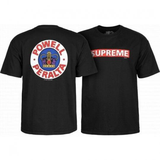 Powell Peralta Supreme Crown Short Sleeve T-shirt Black