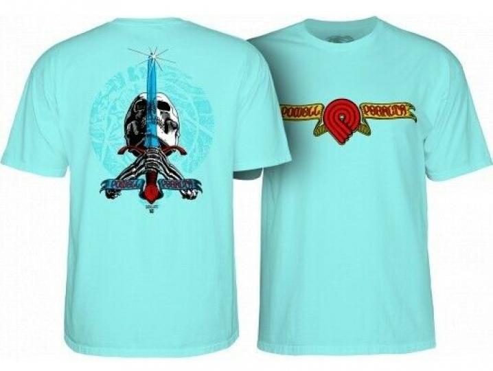 Powell Peralta Triple P Skull & Sword T-Shirt Extra Large Celadon