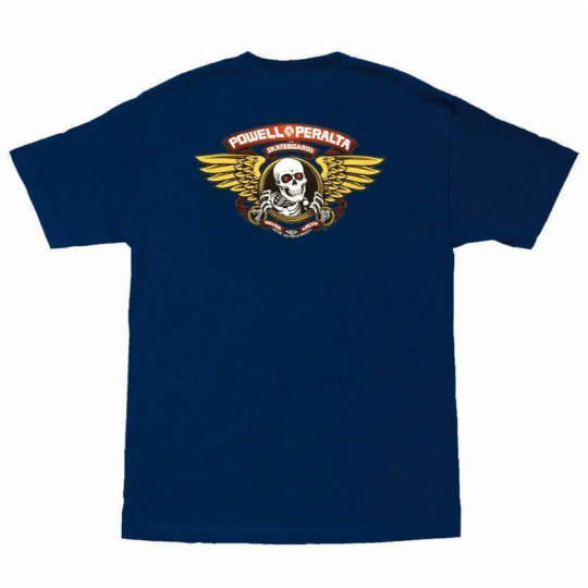 Powell Peralta Winged Ripper Short Sleeve T-shirt in Navy