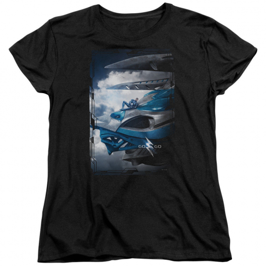 Power Rangers Movie BLUE ZORD POSTER Licensed Women's T-Shirt All Sizes