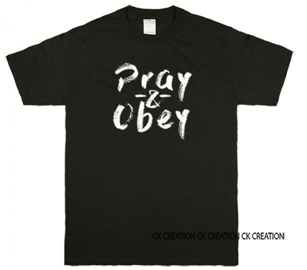 Pray & Obey Christian Graphic T-shirts Tank Top 3/4 Sleeve Raglan