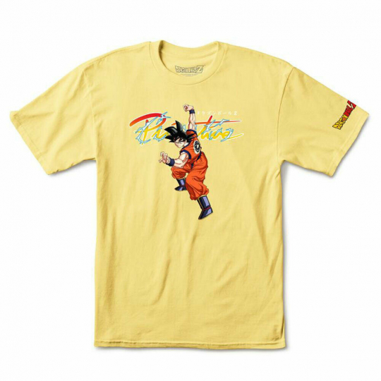 Primitive Skate x Dragon Ball Z Men's Nuevo Goku Short Sleeve T Shirt Yellow ...