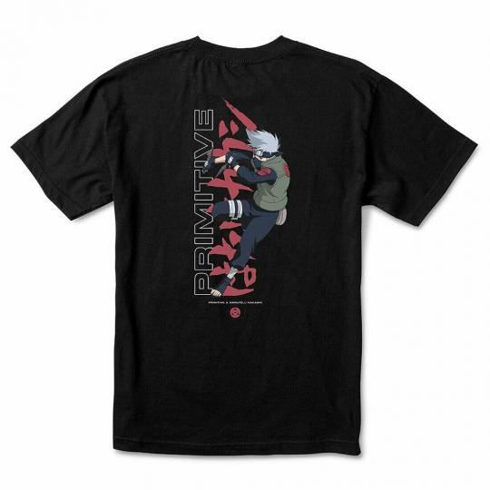 Primitive x Naruto Men's Strike Short Sleeve T Shirt Black Naruto Shippuden N...