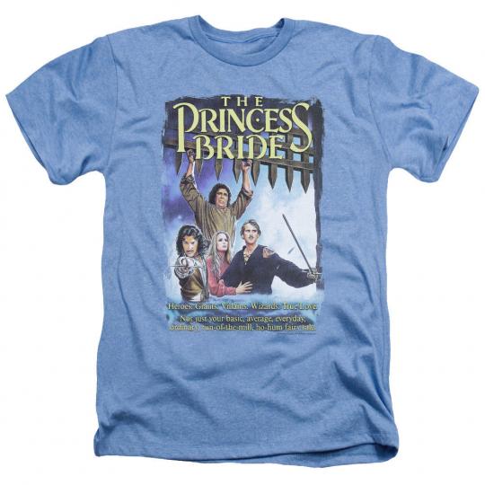 Princess Bride Movie ALT POSTER Licensed Adult Heather T-Shirt All Sizes