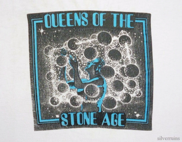 Queens Of The Stone Age Vintage T Shirt 1990's Tour Concert Stoner Rock Band XL
