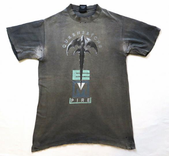 Queensryche Vintage T Shirt 90's 1991 Empire Tour Concert Cities Rock Band