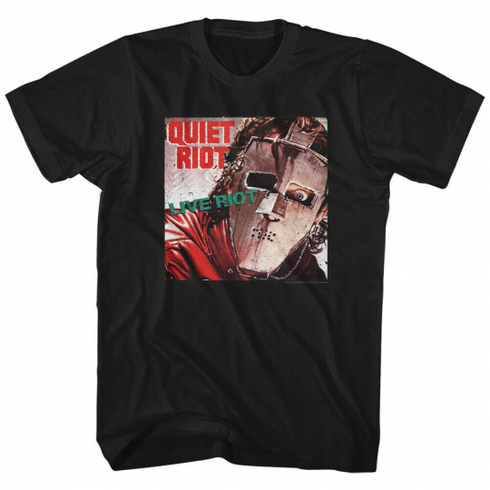 Quiet Riot Music Rock Band Live Masked Heavy Metal Adult T-Shirt Tee