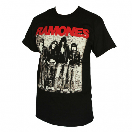 RAMONES ROCK BAND MEN'S T-SHIRT BLACK