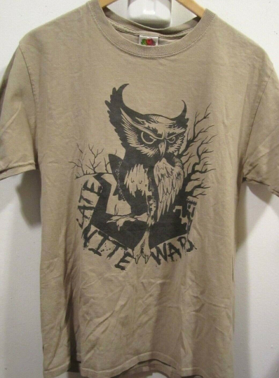 RARE LATE NITE WARS T-SHIRT NIGHT OWL ART VINTAGE ROCK BAND CONCERT GRAPHIC TEE
