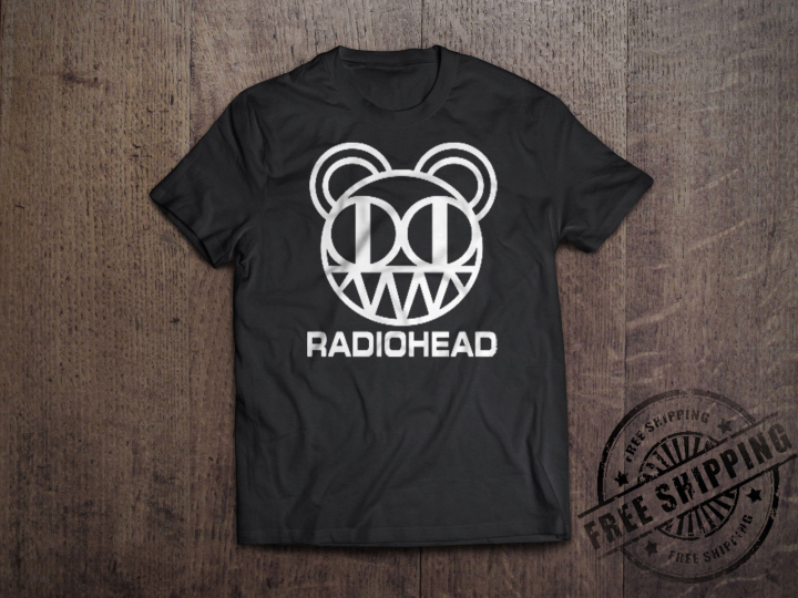 Radiohead T-Shirt Black Rock Band Concert Tour new mens tee unisex size S-6xl