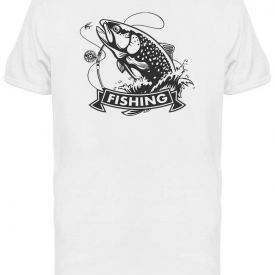Rainbow Trout Jumping Tee Men's -Image by Shutterstock