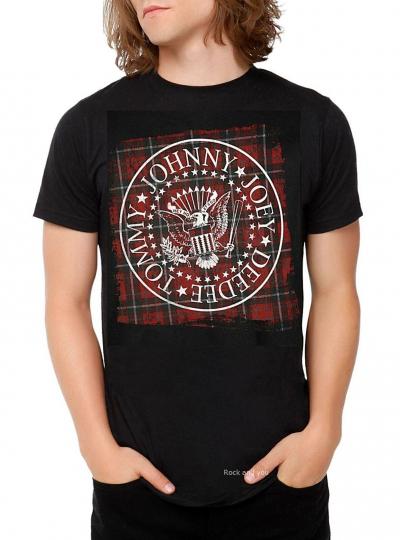 Ramones Plaid Seal T-Shirt NYC punk rock Official M Last NWT