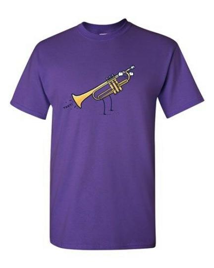 Randy Otter Toot Musical Instrument DT Novelty Adult T-Shirt Tee