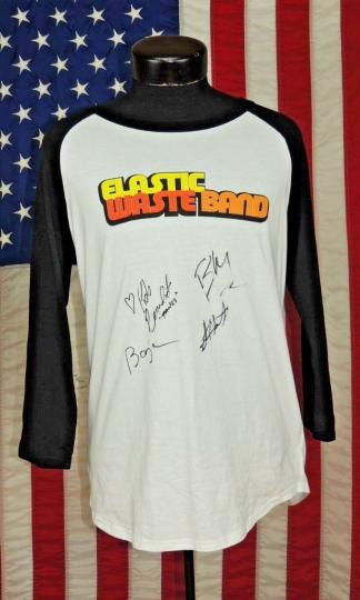 Rare VTG Concert Tee T-Shirt S Elastic Waste Band Baseball Autographed Signed ST