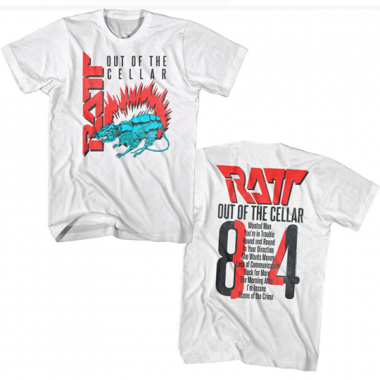 Ratt Out of the Cellar 84 Men's T-Shirt Rock Band Album