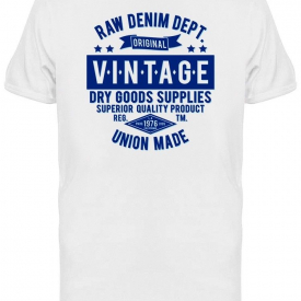 Raw Denim Department Tee Men's -Image by Shutterstock