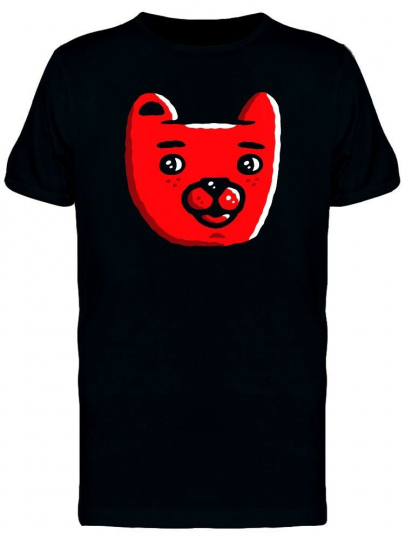 Red Bear Head Cartoon Men's Tee -Image by Shutterstock