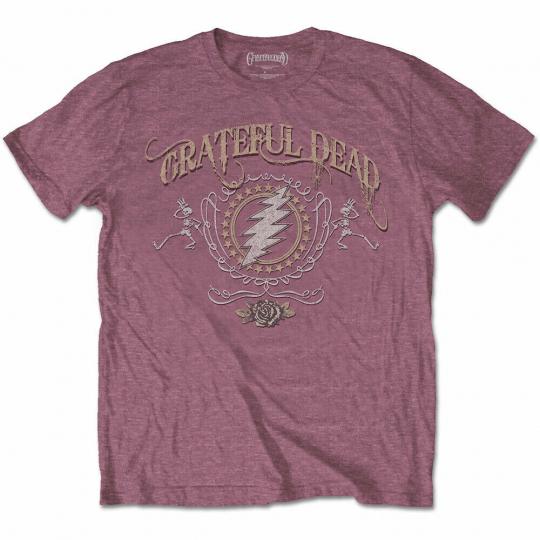 Red The Grateful Dead Bolt Official Tee T-Shirt Mens
