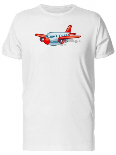 Retro Jet Airliner Cartoon Men's Tee -Image by Shutterstock