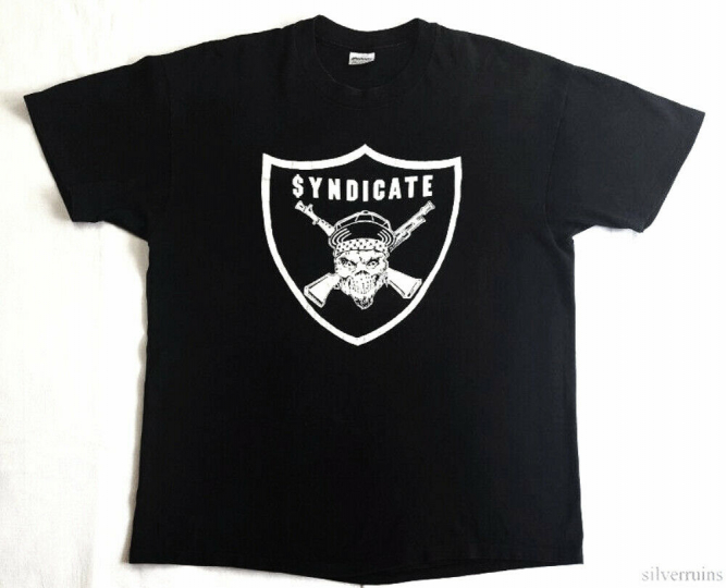 Rhyme Syndicate Vintage T Shirt 80's 1980's Rap Hip Hop ICE T RSR Records XL