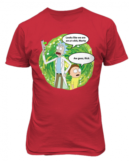 Rick and Morty Looks Like We're On A T-Shirt Rick Mens & Youth T-Shirt