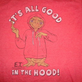 Ripple Junction E.T. All Good In The Hood The Extra Terrestrial Red T-Shirt L