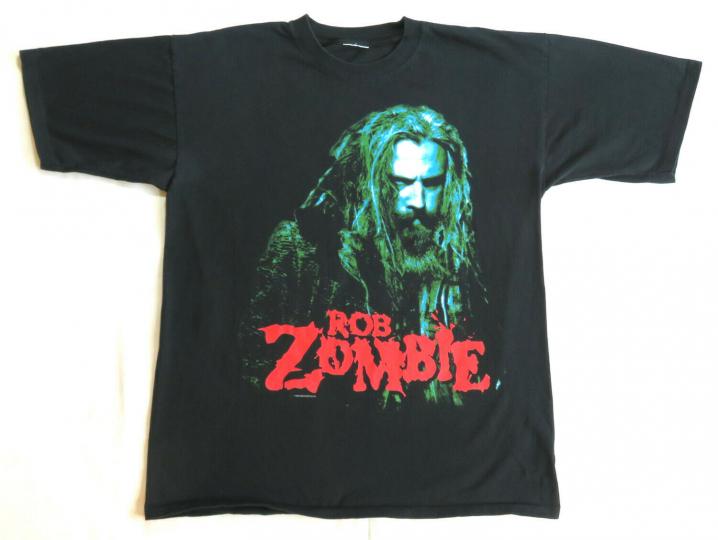 Rob Zombie Vintage T Shirt 2002 The Sinister Urge Concert Tour Cities XL white