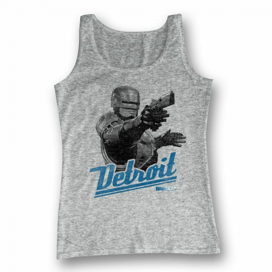 Robocop Detroit Gray Heather Tank Top
