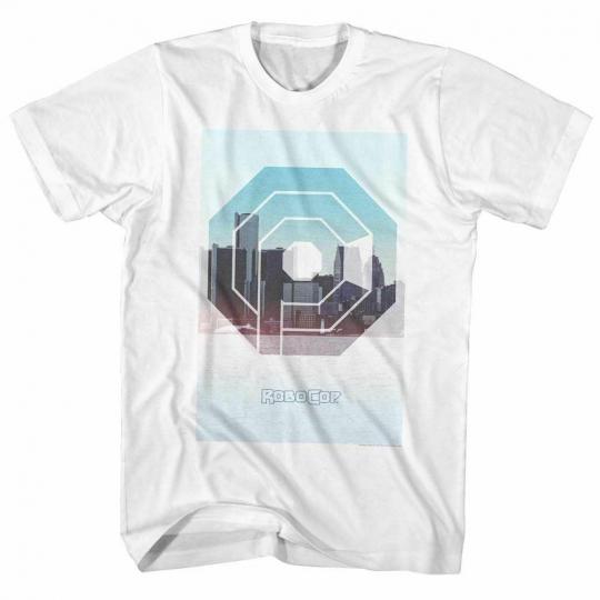 Robocop Skyline Classic White T-Shirt