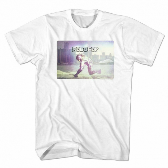 Robocop Skyline White T-Shirt