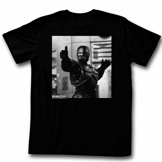 Robocop Thumbs and Ammo Black T-Shirt
