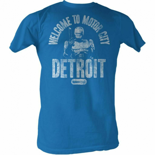 Robocop Welcome Royal Heather T-Shirt