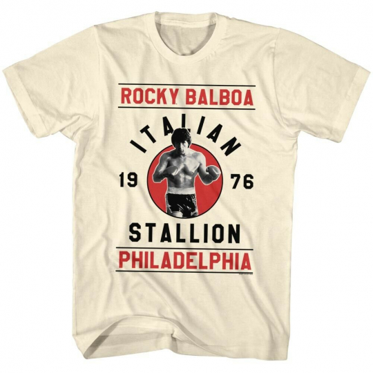 Rocky 1970's Sports Boxing Action Movie Rocky Balboa Adult T-Shirt Tee