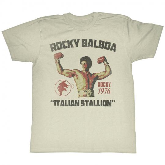 Rocky 1970's Sports Boxing Movie Vintage Style Italian Stallion Adult T-Shirt
