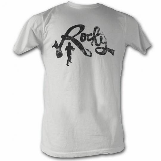 Rocky Rocky Cursive White T-Shirt