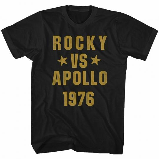 Rocky Rocky Vs Apollo Black Adult T-Shirt