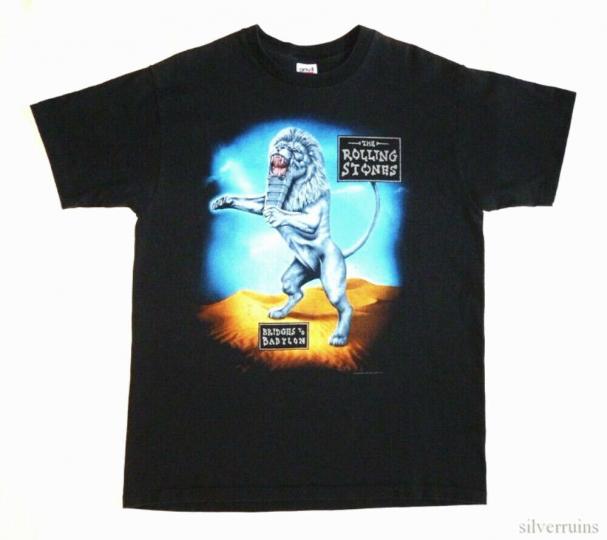 Rolling Stones Vintage T Shirt 90's 1998 Bridges To Babylon Tour Rock Band XL
