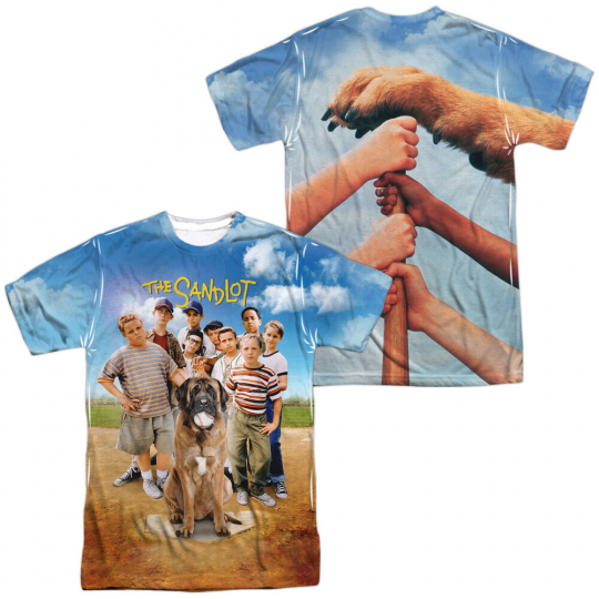 SANDLOT MOVIE POSTER 2-Sided Sublimated All Over Print Poly T-Shirt