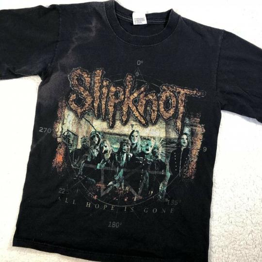SLIPKNOT 2008 All Hope Is Gone Tour Band Tee T Shirt Size S Vintage Anvil Black