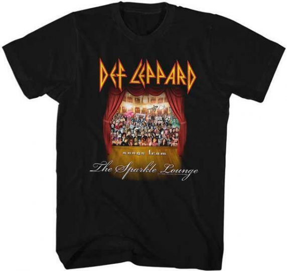 SPARKLE LOUNGE Def Leppard English Rock Band Heavy Metal Hard Rock Adult T-Shirt