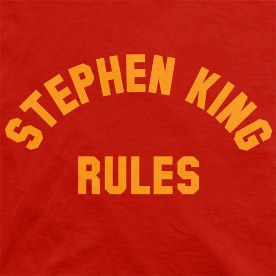 STEPHEN KING RULES Monster Squad Stranger Things Mens and Womens T-Shirt