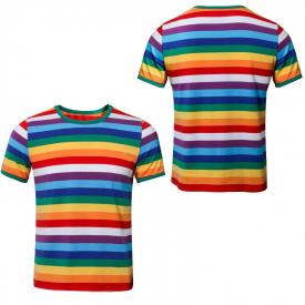 STRANGER THINGS Season 3 Short Sleeve Rainbow T-Shirt Halloween Party Costume