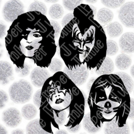 Kiss Band Faces SVG / DXF / PNG  **Instant Digital Download