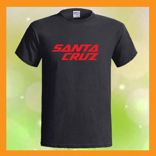 Santa Cruz Bicycles Logo Mountain Bikes NEW Men's Black T-Shirt S M L XL 2XL 3XL