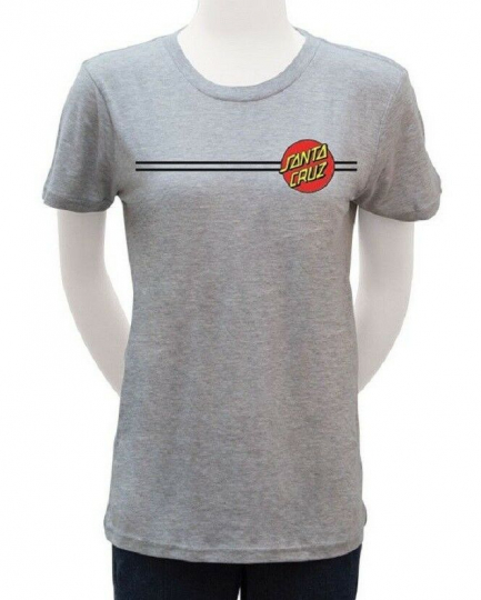 Santa Cruz CLASSIC DOT Heather Grey Multicolor Print Fitted S/S Junior's T-Shirt